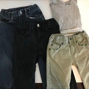 Boys slim fit pants bundle 2-3T